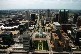 Saint Louis, Missouri Aerial View