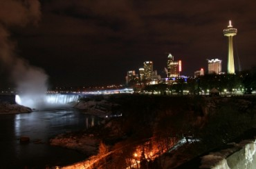 Night View of Niagara Falls