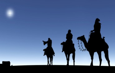 Three Wise Men on Christmas Eve